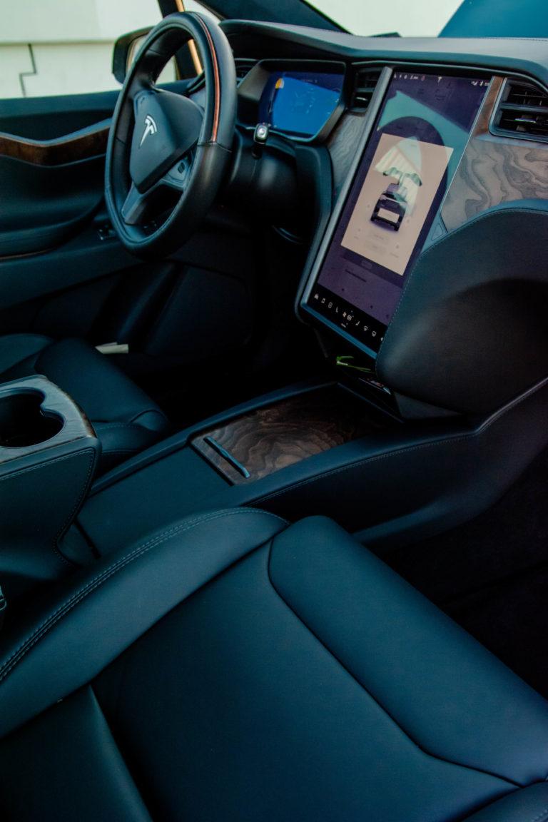 Tesla Model X front dashboard @ Luxury Travel Transportation