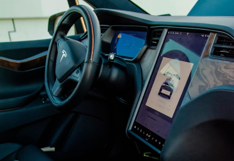 Tesla Model X front dashboard close up @ Luxury Travel Transportation
