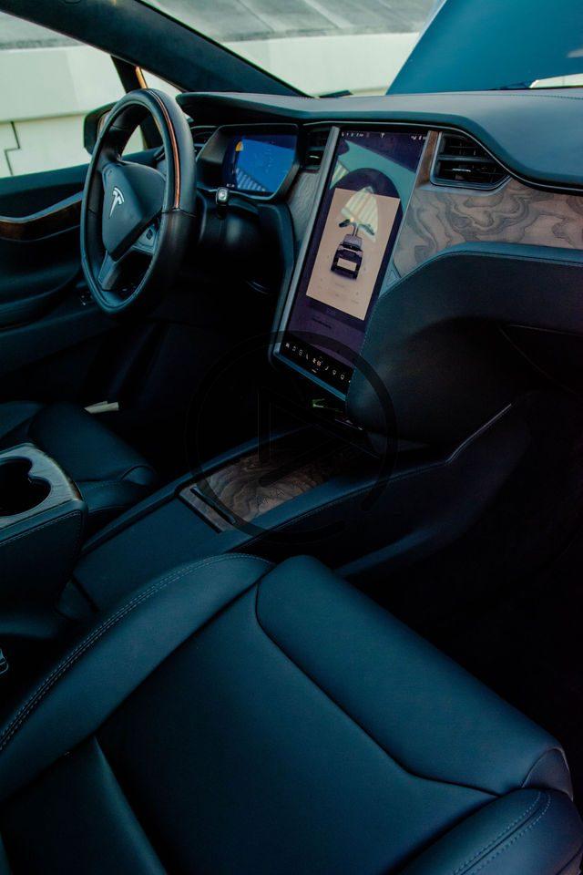 Tesla passenger side interior