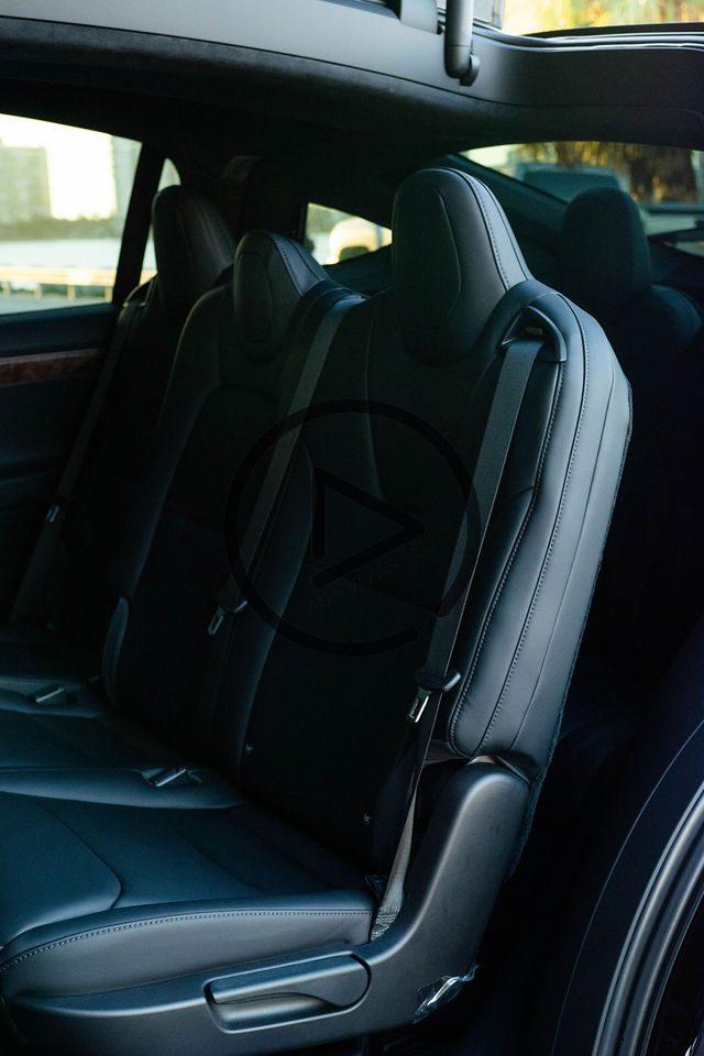 Tesla rear passenger seats interior